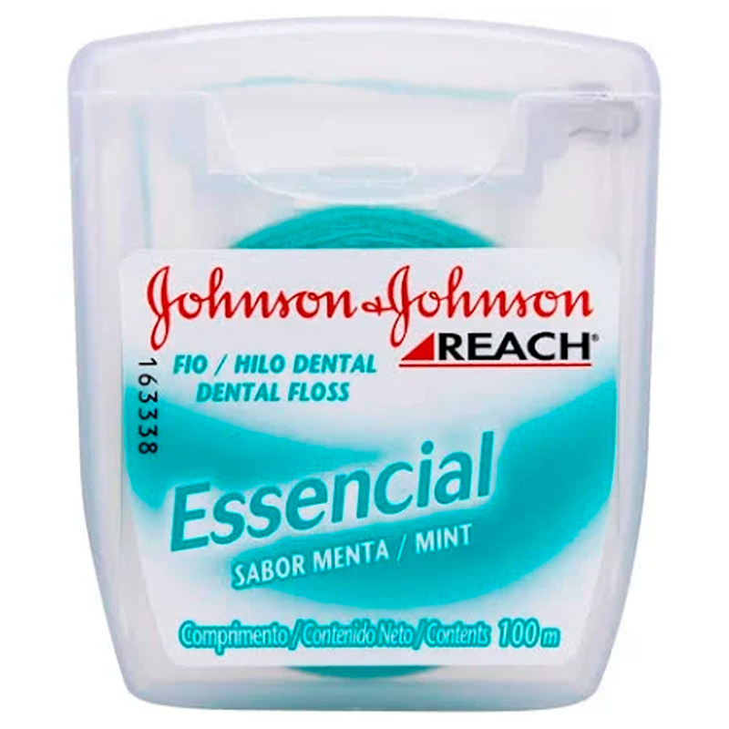FIO DENTAL  J&J REACH ESSENC MENTA JUA 100M (BLACK-BUCAL)
